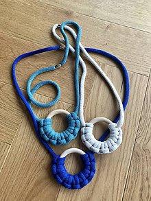 Náhrdelníky - Viazaný náhrdelník - kruhový - 12168752_