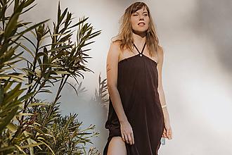 Šaty - Hnedé multifunkčné šaty - 12168164_