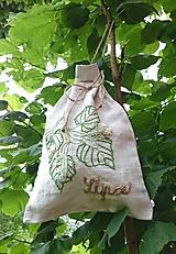 "Úžitkový textil - ľanové vrecko na bylinky ""Lipa"" - 12167408_"