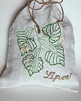 "Úžitkový textil - ľanové vrecko na bylinky ""Lipa"" - 12167629_"