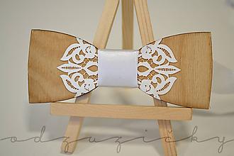 Doplnky - Motýlik elegantná čipka - 12167380_