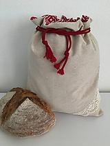 Úžitkový textil - Podšité ľanové vrecko s bavlnenou krajkou - 12167611_