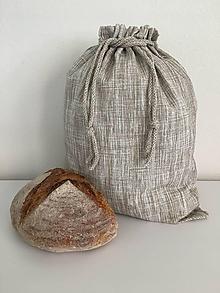 Úžitkový textil - Vrecko na chlieb z režného plátna - 12167699_