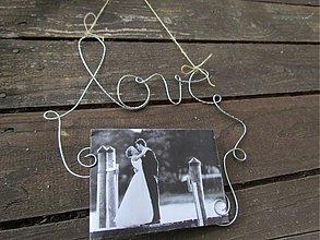 Darčeky pre svadobčanov - držiak na fotografie 2 - 12168282_