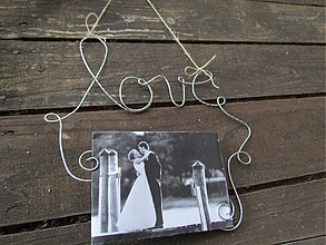 Darčeky pre svadobčanov - držiak na fotografie 2 (24 x 24 cm) - 12168282_