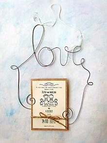 Darčeky pre svadobčanov - držiak na fotografie 2 (28 cm) - 12168285_
