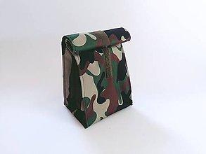 Iné tašky - Desiatnik zeleno-hnedý maskáčový - 12172309_