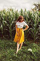 Sukne - Ľanová zavinovacia sukňa-LAURA - 12172569_