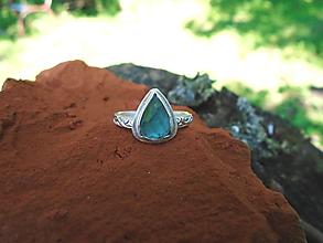 Prstene - Strieborny prsteň Ag925 Indigolit - turmalín - 12171162_