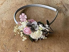 """Ozdoby do vlasov - Kvetinová čelenka """"láska, čo nezovšednie"""" - výpredaj z 18€ - 12172363_"""