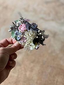 """Ozdoby do vlasov - Kvetinový hrebienok """"láska, čo nezovšednie"""" - výpredaj z 18€ - 12172416_"""