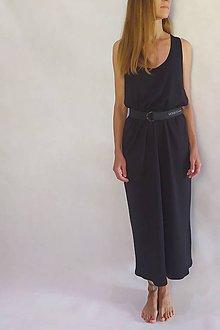 Šaty - Čierne oversize midi šaty - 12172051_