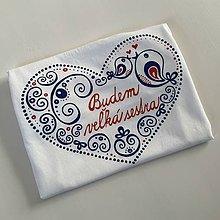 """Detské oblečenie - Folkové maľované tričko (S nápisom """"Budem veľká sestra"""") - 12169874_"""
