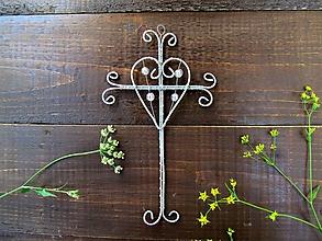 Dekorácie - krížik strieborný*12,5 - 12171906_