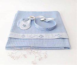 Textil - Súpravička pre chlapčeka - ručne vyšívaná - 12171551_