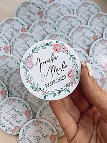 Darčeky pre svadobčanov - Magnetky pre svadobčanov venček 17 - 12174681_