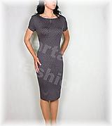 Šaty - Šaty šedo-bílý puntík vz.605 - 12172969_