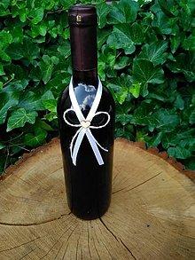 Pierka - vintage stužka na fľašu - 12173402_