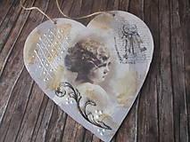 Dekorácie - Vintage srdiečko - 12175214_