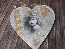 Dekorácie - Vintage srdiečko - 12175222_