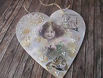 Dekorácie - Vintage srdiečko - 12175225_
