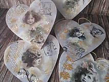 Dekorácie - Vintage srdiečko - 12175230_