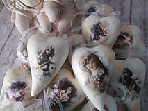 Dekorácie - Vintage srdiečka Tilda - 12175307_