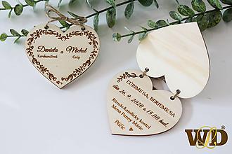 Papiernictvo - Drevené svadobné oznámenie - 12175031_