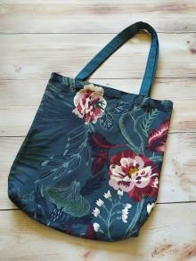 Nákupné tašky - Denim taška - nočná zahrada - 12174438_