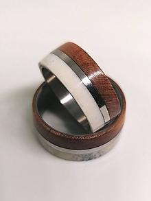 Prstene - Titánové obrúčky  - Slivka  - Parožie - 12173841_