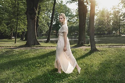 Šaty - Růžové dlouhé šaty  - 12173175_
