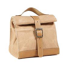 Iné tašky - Béžový lunchbag. Obedar. - 12173875_