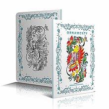 Knihy - Ornamenty - omaľovánka - 12173955_