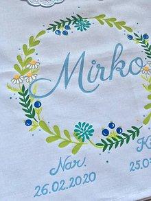Detské oblečenie - Maľovaná košielka na krst - motív venček s bylinkami - 12174754_