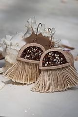 Náušnice - Medúzy béžové