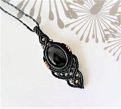 Náhrdelníky - Macramé náhrdelník Night - 12172973_