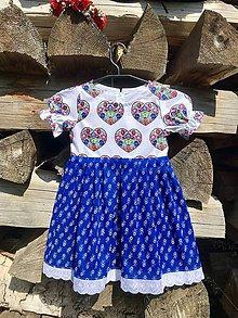 Detské oblečenie - Folklórne (ľudové) šatičky Srdiečko 2 - 12175778_