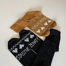 Obuv - Maľované ponožky pre novomanželov alebo k výročiu svadby folk (horčicové + čierne) - 12172954_