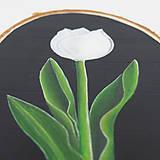 Obrazy - Tulipán - maľba na drevo - 12173820_
