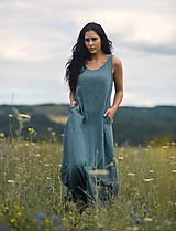 Lněné maxi šaty Baltique