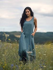 Šaty - Lněné maxi šaty Baltique - 12175879_