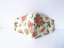 Rúška - kvitnuce ružičky /2 vrstv. - 12173911_