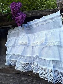 Úžitkový textil - Ľanová záclonka Maria Theresa - 12175552_