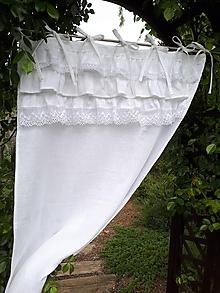 Úžitkový textil - Ľanový záves Maria Theresa - 12175587_