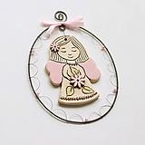 Detské doplnky - dekorácia - anjelik s kvetom - 12177857_