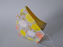 Dizajnové rúško citrusy tvarované dvojvrstvové