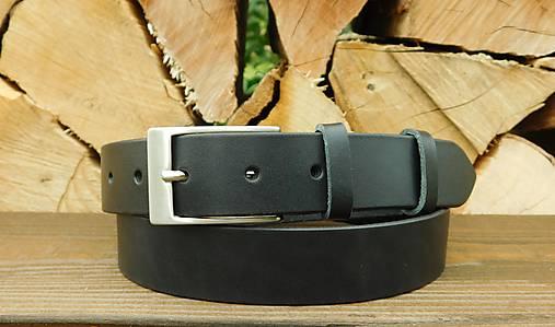 Kožený opasok 3 cm - Black