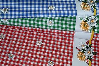 Textil - Látka Kvietok v kocočke - 12176083_