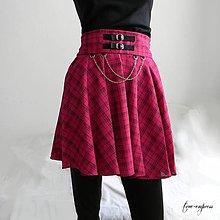 Sukne - Rocková cyklámenová sukňa s retiazkami - 12178653_