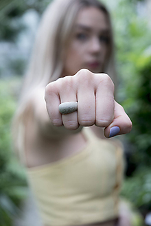 Prstene - Betónový prsteň - 12176480_